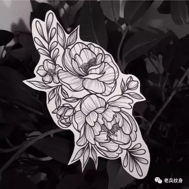 纹身素材——素花手稿图片