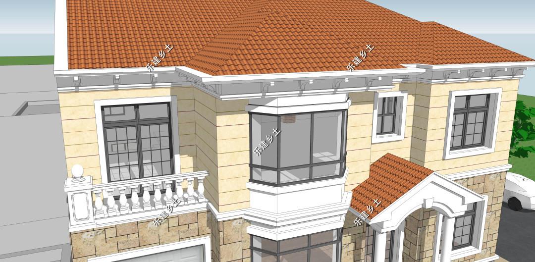 二层14乘11米欧式别墅设计,因地制宜,生活与环境的良好共融