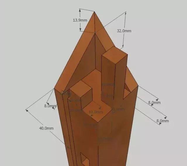 棕角榫详细结构,尺寸设计图纸,制作过程图全都有