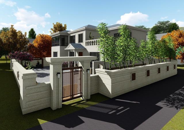 最新款农村二层6室3厅别墅设计图及实景图图片