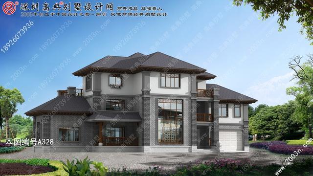 三层新农村房屋设计图首层314平方米农村三层楼设计图