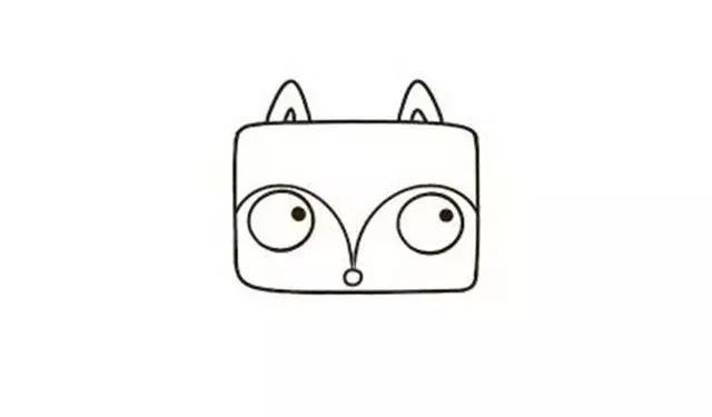 兴宏信亲子简笔画 用长方形画出狐狸和小公鸡,你会画了吗