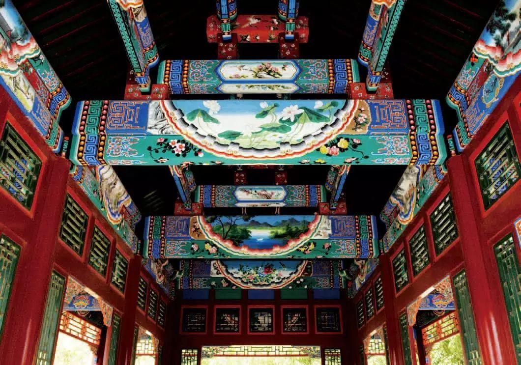 正文  根据不同建筑,油漆彩绘可分为三大类:和玺彩画,旋子彩画,苏式彩图片