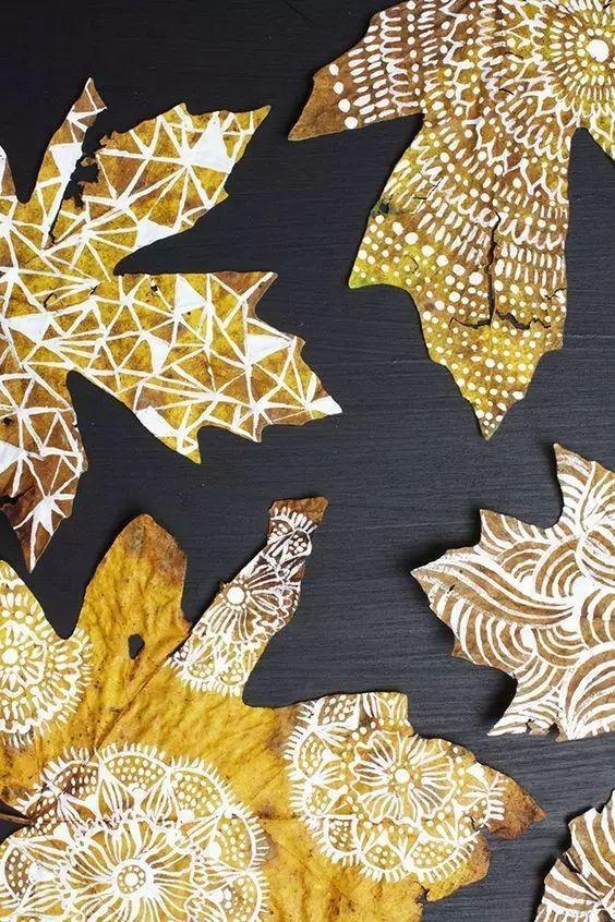 秋天树叶的打开方式这么多,还愁什么幼儿园作业!图片