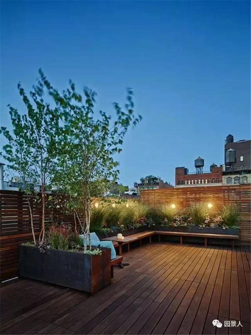 防腐木与屋顶花园的强强联手,完美!