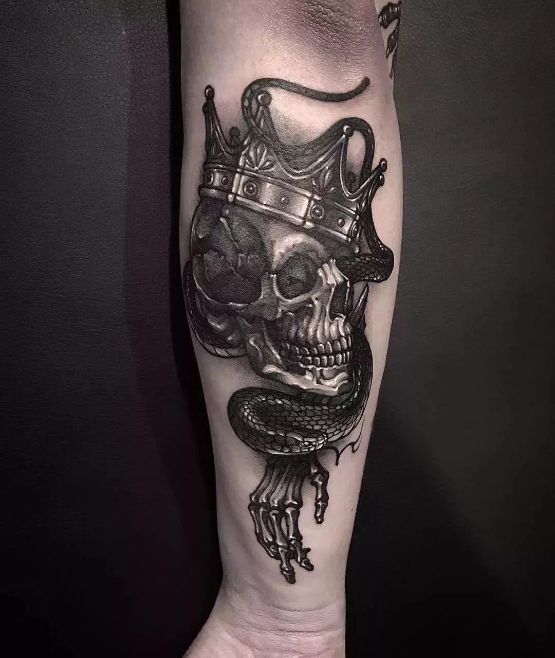 暗黑骷髅纹身图案 是你热衷于的纹身风格吗?图片