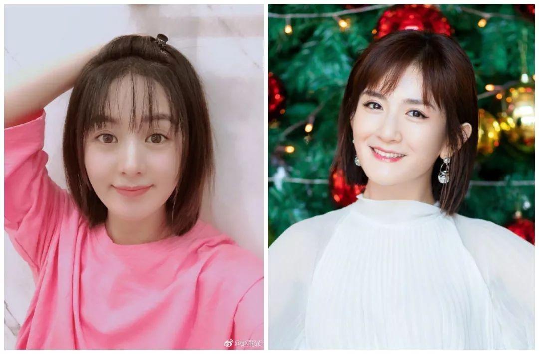 赵丽颖新剧被嘲老十岁,婚后自拍居然还撞脸谢娜?图片