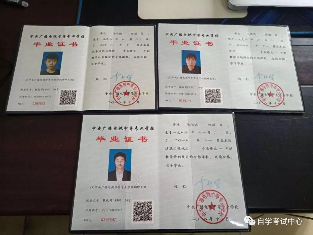 电大中专毕业证图片