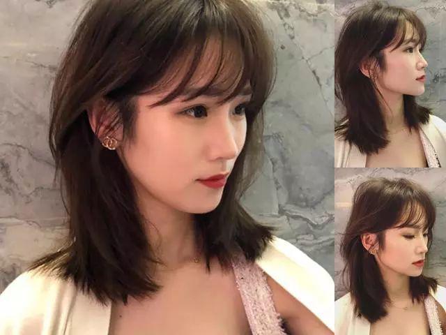 额头高,圆脸形的女生,换上这几款刘海发型轻松瘦脸!图片