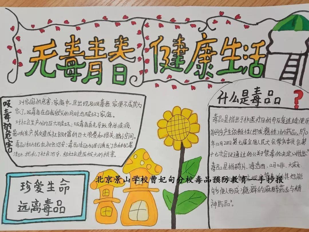 无毒青春 健康生活!北京景山学校曹妃甸分校开展系列禁毒教育活动