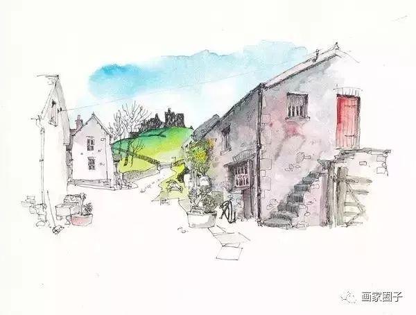 英国画家的速写本,水彩风景画的真美