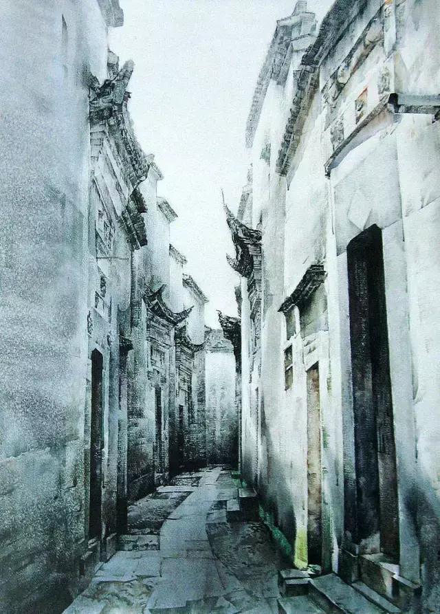 湖北美术学院教授刘寿祥水色韵味作品欣赏!图片