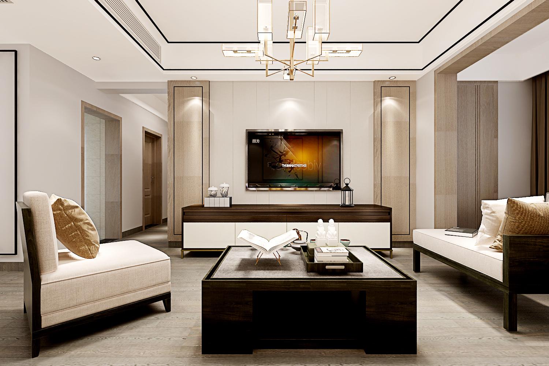 株洲大唐装饰130平米新中式装修效果图