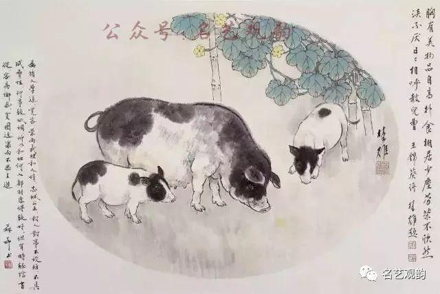 """赏十大名家画笔下的猪,""""猪""""福填满2019!图片"""