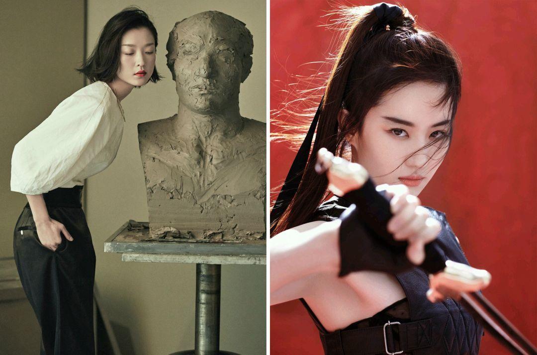 求色女视频_像杜鹃和刘亦菲这种带有中式古典美感的女艺人,都是在深发色时期拍出