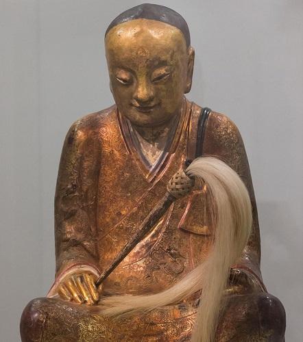 章公祖师肉身坐佛像(英国《星期日泰晤士报》网站)