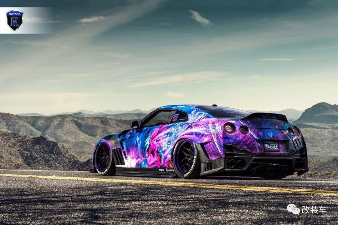 颠覆想象的骚紫战神GT-R竟把汽配城底盘灯用的如此完美!