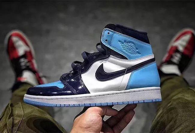 """Air Jordan 1 """"UNC Patent""""  货号:CD0461-401 全明星北卡"""