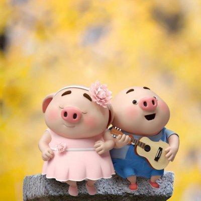 2019猪年头像可爱卡通图片 吉祥猪年微信头像大全图片