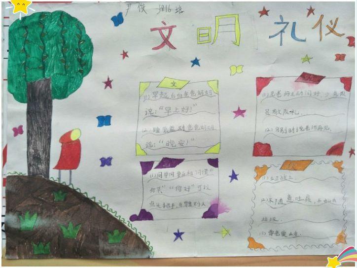 文明礼仪伴我行 城南完小文化园校区学习 小学生行为规范教育读本 暨学生手抄报评比活动