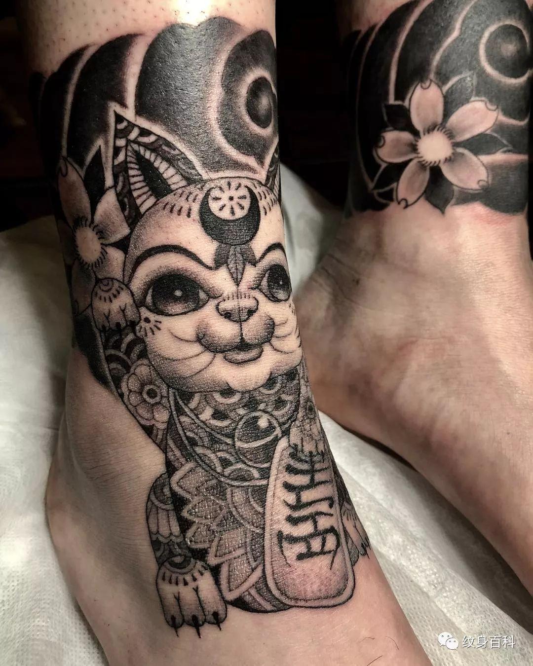 招财猫纹身,招财纹身的首选!