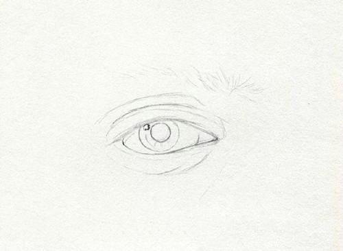 素描眼睛的详细画法图片