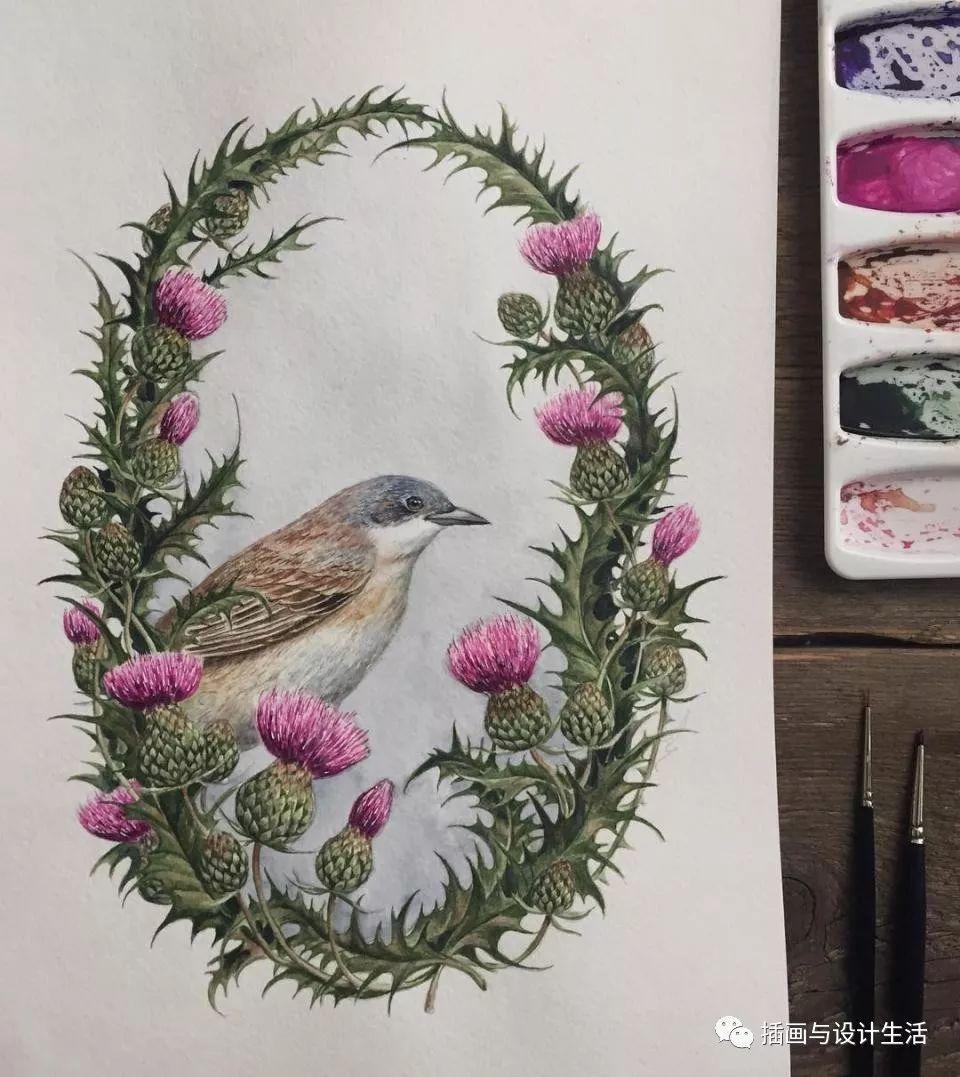 责 :   她画画的灵感都来源于大自然的一草一木,她也显示出对大自然无限的热爱,飘落的树叶,开满院子的鲜花,飘落的雪花,随手拈来的一朵小花都是她创作的灵感来源.