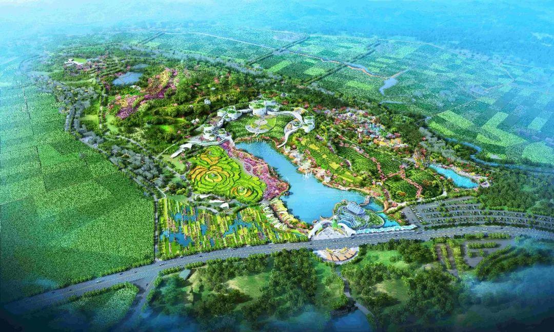 犍为湿地公园规划图