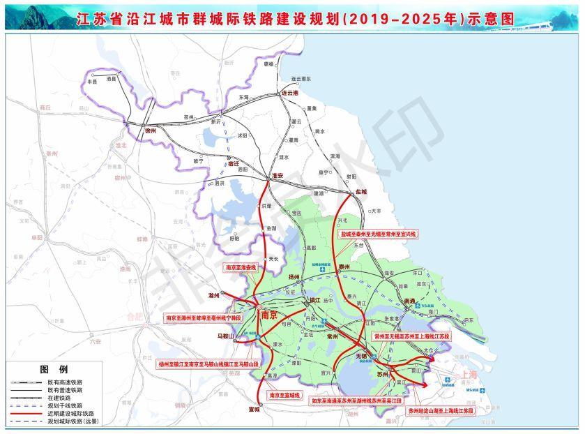 国家发改委批复《江苏省沿江城市群城际铁路建设规划