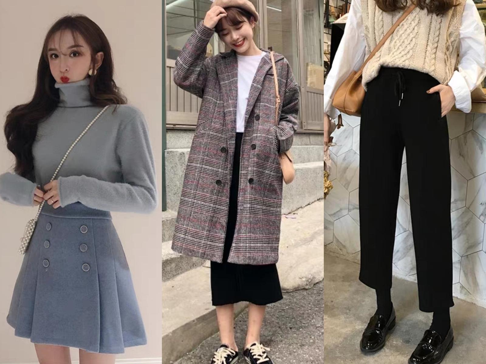 适合20-30岁梨形身材女人的穿搭技巧,冬季这样穿显瘦好看图片