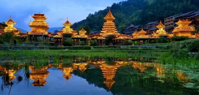肇兴侗寨是黎平侗乡风景名胜区的核心景点,2005年被《中国国家地理》