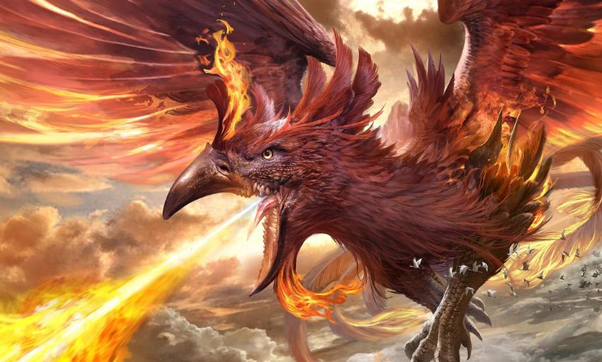 中国神话中神兽朱雀难道真是传说中的凤凰?那它们的地位谁高?