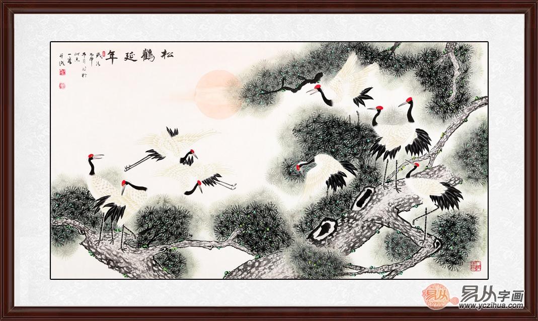 客厅挂画图片大全 一幅花鸟画让你知道什么叫高级
