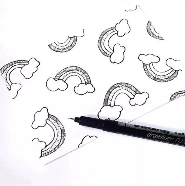 素材 一组简单简笔画 花边素材