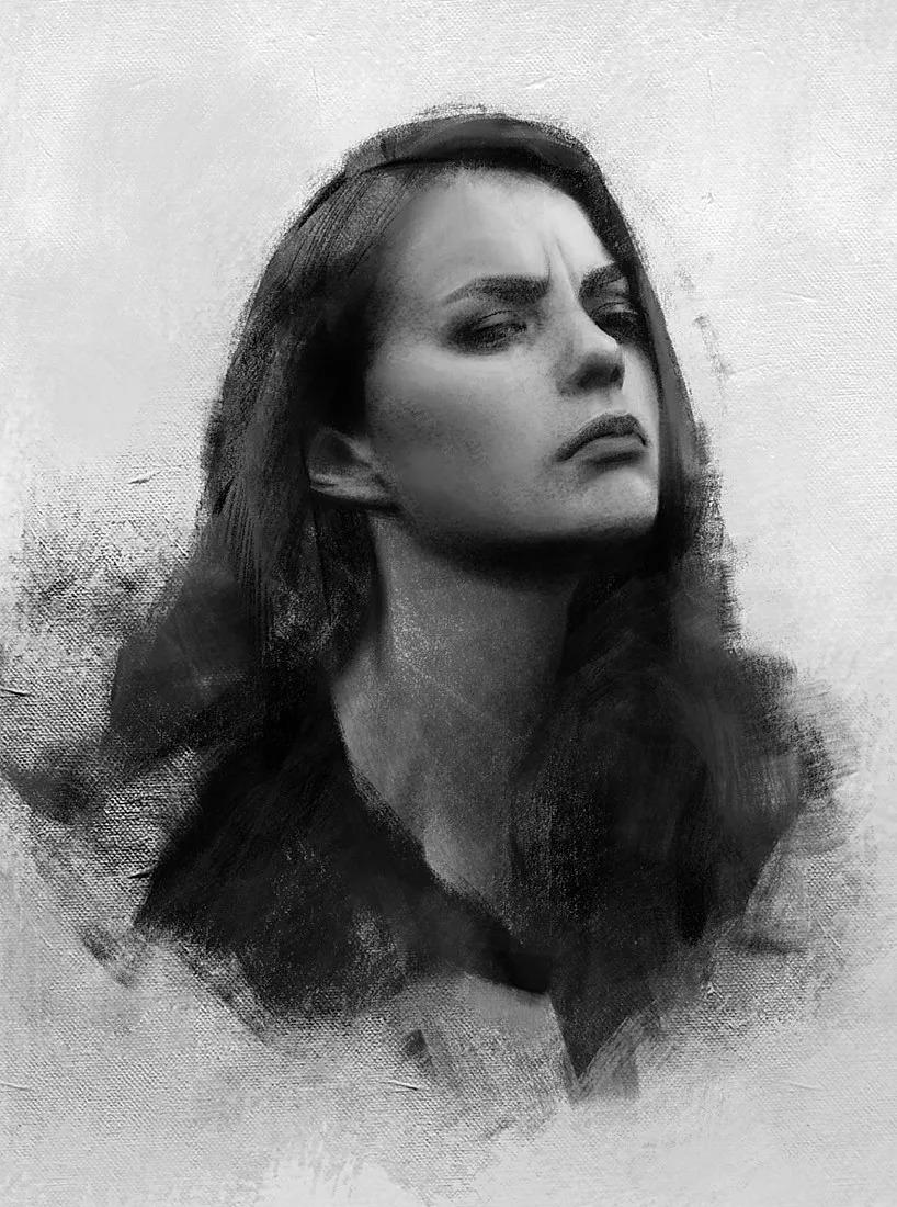 他画的美女因太美太性感, 多次被人盗用, 笔下自带忧郁气质的女子你一眼就会爱上图片