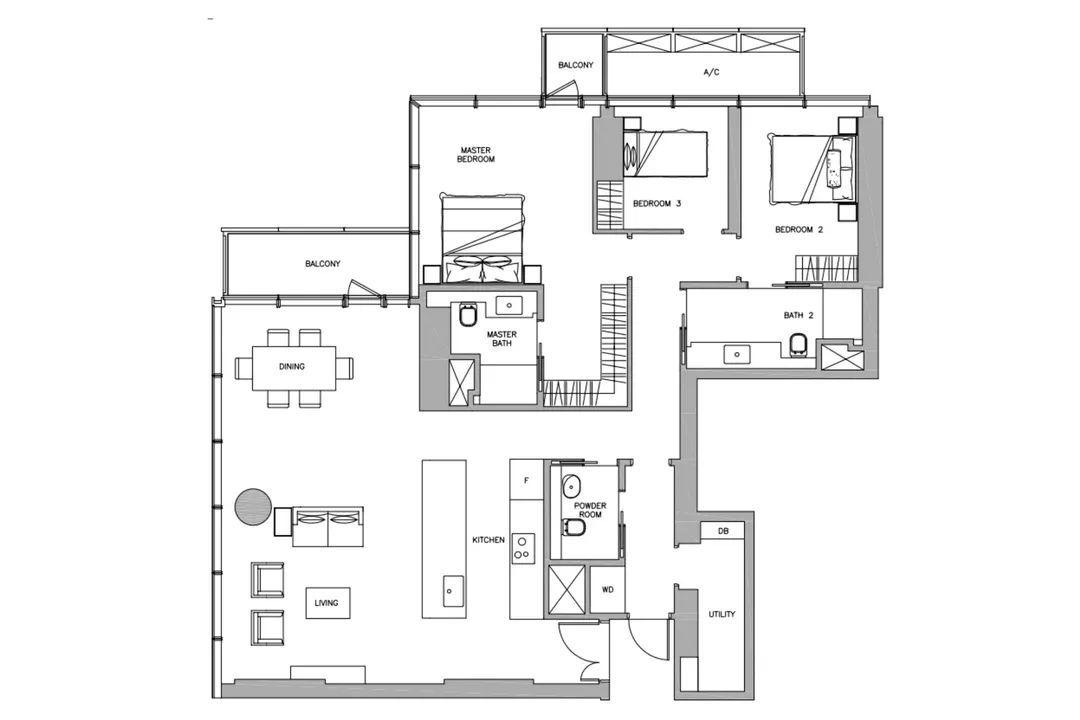 4卧室平面图