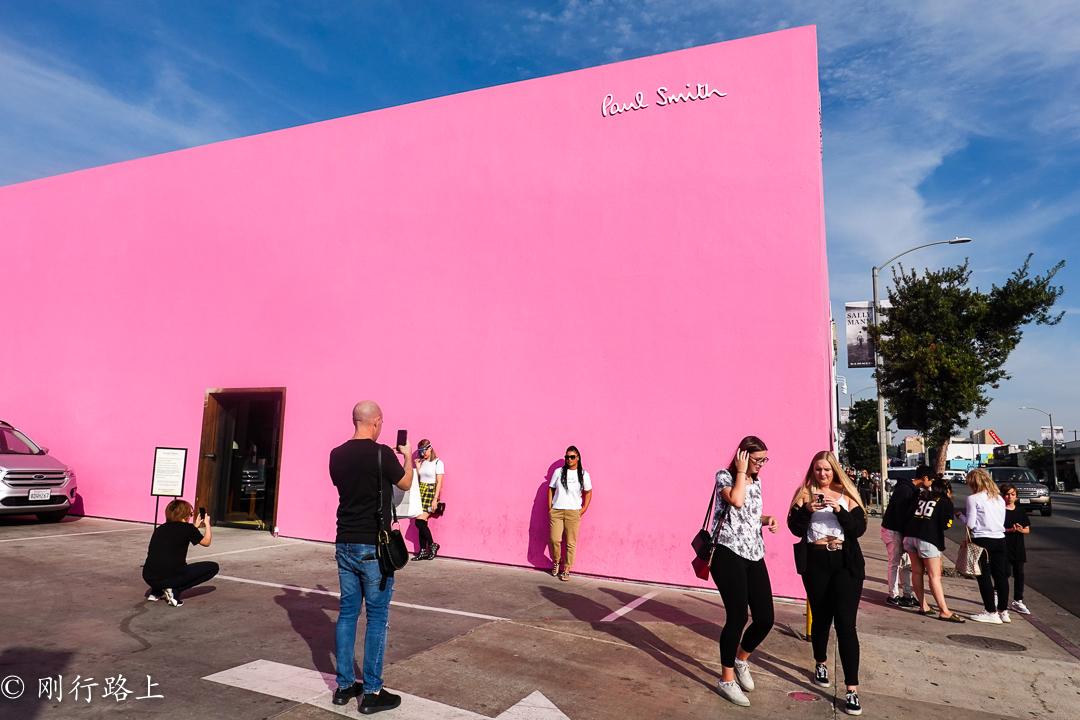 美国旅游攻略里洛杉矶出名的网红墙,大老远花