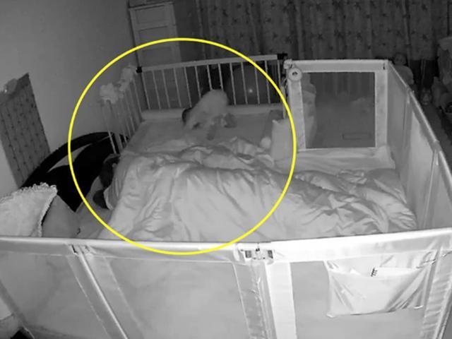 監控實拍寶媽的一夜,像是一部「武打片」,寶媽看了不由得流淚