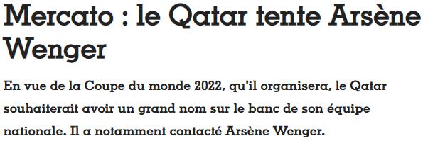 法国足球:卡塔尔国家队有意请温格执教,安妮娅・谢苗诺维奇,薄谷