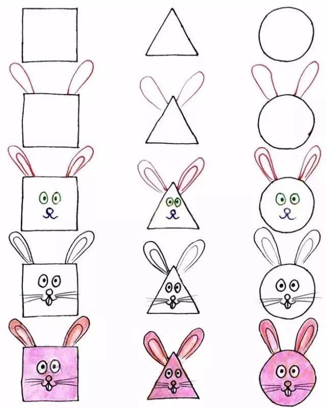 有趣实用的动物简笔画教程,可以教授图形和动物