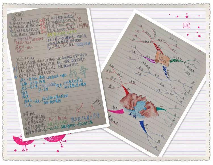 思维导图式,摘抄感悟式等多种形式,读书笔记图文并茂,精彩纷呈,学生在图片