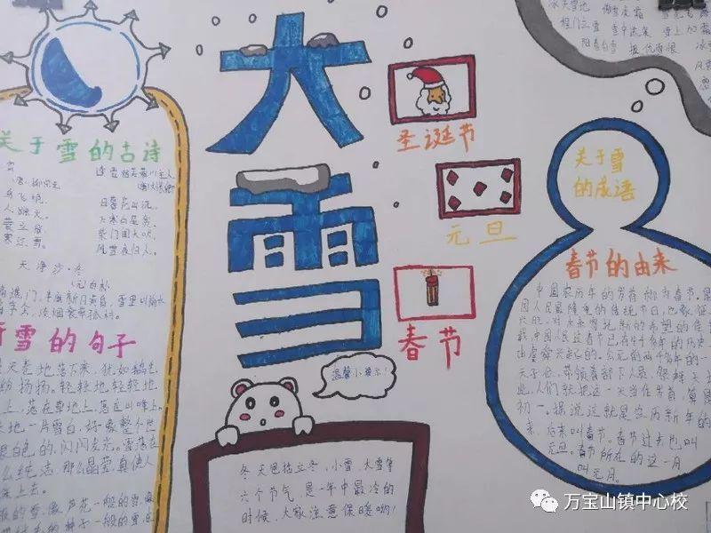 """万宝山镇中心学校首届""""冰雪欢乐节""""手抄报暨征文大赛成功举办图片"""