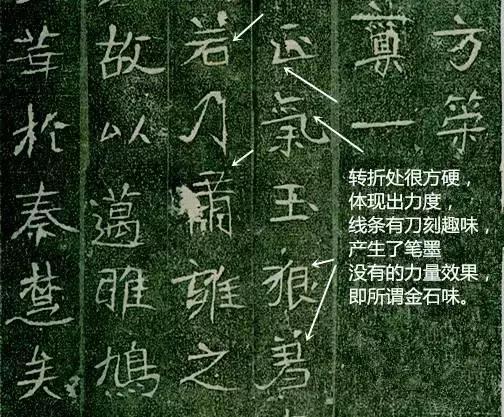 魏碑体现出的硬度,表现在转折和线条的刀刻效果,即所谓的金石味,刀凿图片