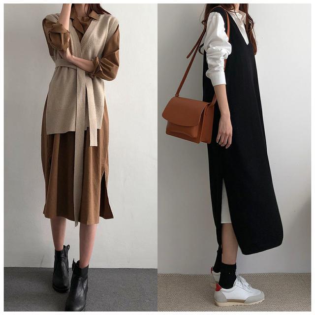 适合优雅女人的衣橱穿搭,大衣+毛衣裙时尚又保暖,秒变气质女神