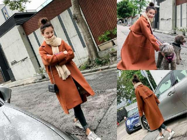 讲真的女人仍然穿外相一体的大衣上层次时尚保