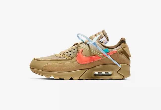 OFF-WHITE x Nike Air Max 90  货号:AA7293-200  沙漠色