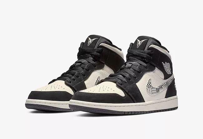 "黑白图腾+安东尼专属  Air Jordan 1 Mid ""Equality""  货号:852542-010"