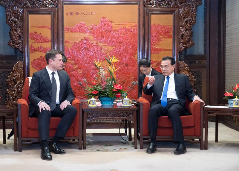 特斯拉在中国市场不断前行 年初李克强会见马斯克(第1页) -