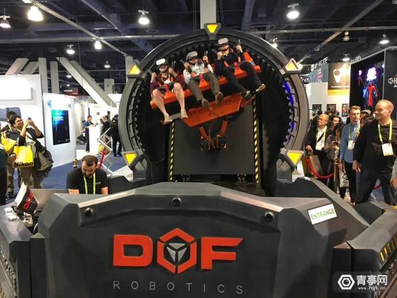 CES2019:6轴机械臂加持,DOF Robotics展示多人VR过山