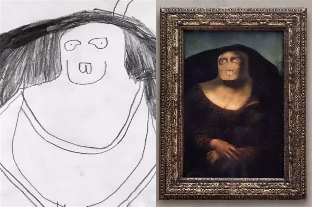 爸爸把儿子涂鸦P到现实中,看到杰克逊之后,网友:你是魔鬼吗?